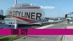 Boat trip from Bratislava to Wien. Modern catamaran good choice for transport between Bratislava and Wien. Video Studio, Bratislava, Twin Cities, Catamaran, Touring, Transportation, Boat, City, World