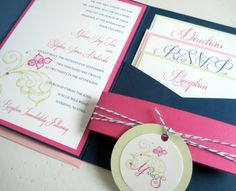 Whimsical Peony Hand Drawn Flourish Pocket by PerfectPapers, $6.00