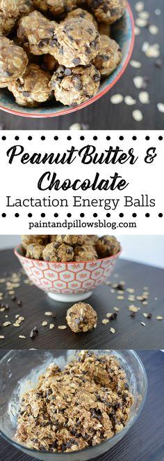 No-Bake Peanut Butter & Chocolate Lactation Energy Balls