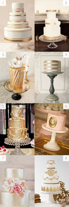 Image detail for -Gold wedding cakes #shimmer