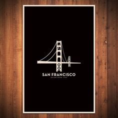San Francisco Minimalist City Poster  12 x 18 by FlyingJunction, $20.00