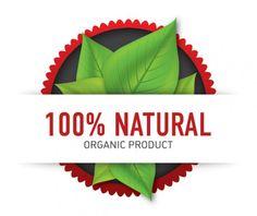 etiqueta de producto orgánico, 100% natural. Organic product.