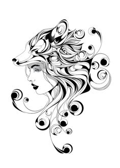 Black Line Tattoo, Medusa Art, Mask Drawing, Stencil Printing, Baroque Art, Butterfly Drawing, Fox Girl, Art Inspiration Drawing, Art Drawings Sketches