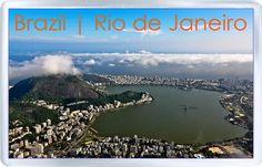 $3.29 - Acrylic Fridge Magnet: Brazil. Rio De Janeiro. Lagoa Rodrigo De Freitas