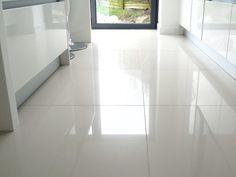 Large gloss floor tiles