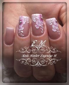 Fancy Nails, Diy Nails, Cute Nails, Pretty Nails, Pink Nail Art, Glitter Nail Art, Nail Polish Designs, Nail Art Designs, Gel Polish