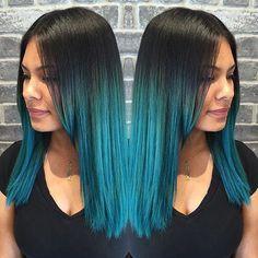 awesome 20 Fairy-Like Blau Ombre Frisuren