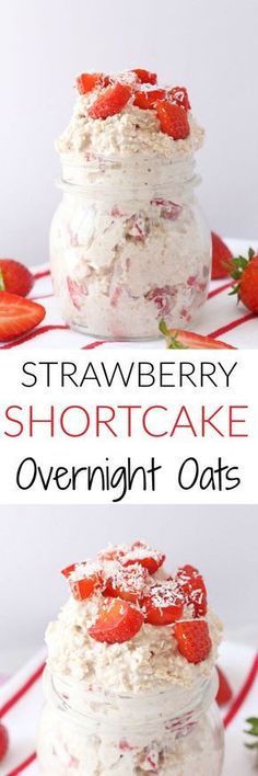 So easy to make and super healthy, these Strawberry Shortcake Overnight Oats honestly taste like strawberry ice cream and are sure to be a hit with the kids! (healthy drinks for kids chia seeds) Overnight Oatmeal, Strawberry Overnight Oats, Overnight Breakfast, Good Food, Yummy Food, Fussy Eaters, Easy Meals For Kids, Kids Meals, Oatmeal Recipes