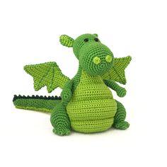 Yoki the dragon amigurumi crochet pattern di DIYFluffies su Etsy