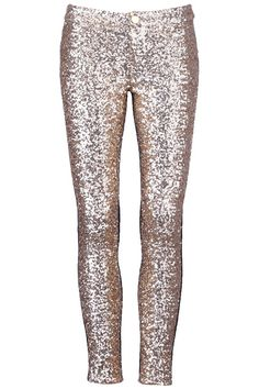 Golden Sequined Leggings- Too much? I'd wear these under tunics and dresses to add a pop of sparkle.