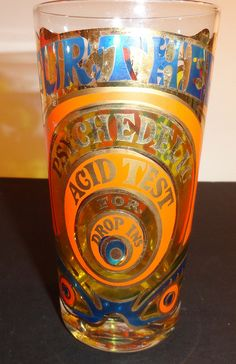 RARE 1960s Further Bus Psychedelic Acid Test GLASS ......... WANT!!
