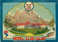 Hotel Llao-llao ~ Parque Nacional De Nahuel Huapi-Argentina ~ Antigua Etiqueta De Equipaje