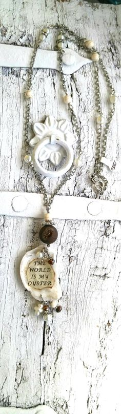 The World Is My Oyster Necklace by SecretStashBoutique on Etsy