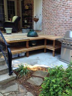 Outdoor Countertop for Big Green Egg
