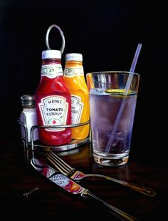"""#ArtCritique of """"At the Diner"""" (pastel, 14×18) by Karen Howard 
