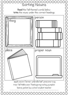 Fall Writing Worksheets {about Fall, Word Work and Reading Response} First and Second Grade.$