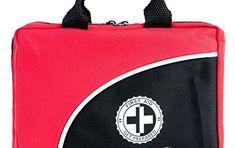 Trousse de Premiers Secours Composée de 120 éléments – Avec poche de froid, masque de réanimation et couverture de survie