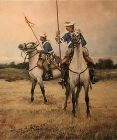 Old cavalry painting showing lances, the beginnings of today's tent pegging sport. Army History, Military Costumes, Historical Art, Equine Art, Toy Soldiers, Military Art, Victorian Era, Skull Art, Knight