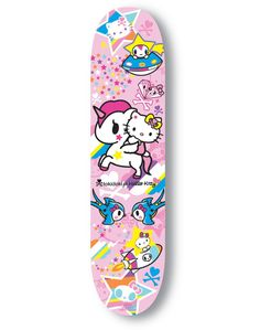 tokidoki hello kitty limited edition skateboard