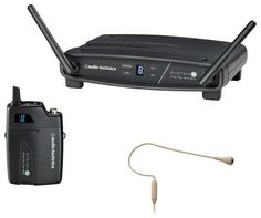 Audio-Technica - System 10 8-Channel Wireless Headworn Microphone System, Black