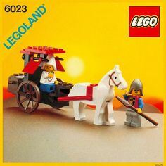LEGO Building Instructions Set Number 6023 Maidens Cart - Thousands of complete step-by-step free LEGO instructions. Classic Lego Sets, Classic Toys, Lego Castle Instructions, Easy Horse Drawing, All Lego Sets, Lego Universe, Lego Boxes, Free Lego, Vintage Lego