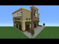 Minecraft Tutorial: How To Make A Starbucks - YouTube