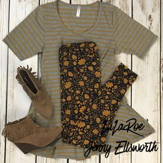LuLaRoe Perfect T with Leggings and booties. Join my shopping group to shop my outfits! www.facebook.com/groups/LuLaRoeJenny/