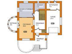 Проект дома из газобетона А-008-1Р — БАСТЭН