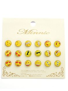 Emoji Earring Set