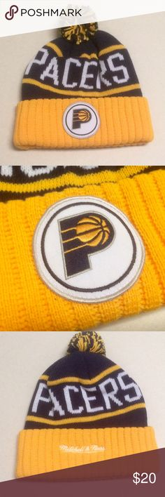Indiana Pacers - Mitchell & Ness Beanie 🏀 Indiana Pacers 🏀 Mitchell & Ness beanie   One size fits all   NWOT - Never worn! Mitchell & Ness Accessories Hats