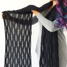 Ravelry: Foggy Night Scarf pattern by Life Is Cozy Knit Shrug, Knitted Poncho, Knitted Shawls, Knitted Scarves, Crochet Shawl, Crochet Baby, Shawl Patterns, Knitting Patterns Free, Knitting Ideas