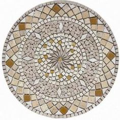 FLOORS 2000�Medallions Multi Colored Natural Stone Mosaic Floor Tile (Common: 36-in x 36-in; Actual: 36-in x 36-in)