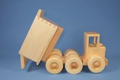 Handcrafted Wooden Toy Dump Truck