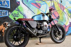 this is moto guzzi v65 by RGC (Robb's Garage Custom)