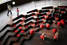 Could we build a bank of steps for seating, viewing presentations and visualisations?