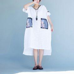 Women white short sleeve dress