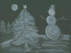 Midnight Snow Scene