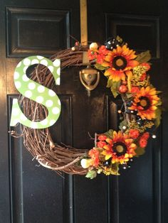 Fall wreath - add a burlap bow & use differrent flowers. Maybe pheasant feathers too.