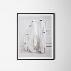 $15 Ghost Family Photography Family Portrait Poster by PrintClub