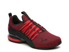 Puma Axelion Mens Training Shoes Lace-up - JCPenney Mens Training Shoes, Cross Training Shoes, New Shoes, Men's Shoes, Shoes Men, Nike Shoes For Boys, Red Sneakers, Pumas Shoes, Shoe Collection