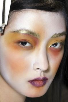 Vivienne Westwood Gold Label - Make up (part Make Up Looks, Look At You, Makeup Inspo, Makeup Art, Eye Makeup, Hair Makeup, Skull Makeup, Makeup Brushes, Makeup Ideas