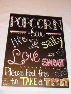 Pittsburgh Popcorn at the wedding??? What a cool idea!!