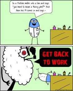 Joke   Lab joke   The Upturned Microscope