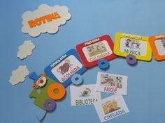 painel de números para educação infantil trem da Rotina www.petilola.com.br