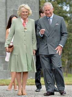 Support: Charles was expected to be joined by wife Camilla for his visit to Mullaghmore