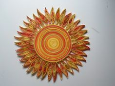 Sun wall art Paper quilling Kids room wall by GeorgianaArtAndStyle