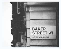 London photography Baker Street travel photo black by MyMonography 221b Baker Street, Martin Freeman, Sherlock Holmes, Benedict Cumberbatch, O Tv, Civic Theatre, Arthur Conan Doyle, Street Names, London Photography