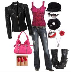 Love it! Want it! Harley Davidson polyvore set17