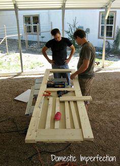 Building a screen door
