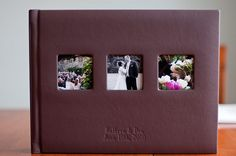 Renaissance Albums - 13x10 Fine Art Album  |  Tribeca Leather - Dark Cherry Cover  |  Three Image Openings (OP4)  |  20 Pages  |  Source: Lauren Methia Photography (http://www.laurenmethiablog.com/website/2011/3/1/fine-art-wedding-album.html)
